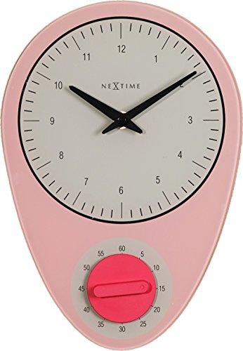 nextime-hans-orologio-da-parete-da-cucina-da-ufficio-da-soggiorno-decorazioni-rosa-19-cm-x-27-5-cm-3