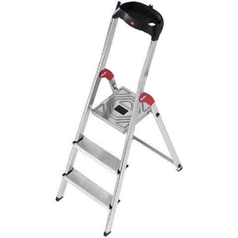 Hailo 5_8503-001 L60 - Escalera plegable (aluminio, 3 escalones)