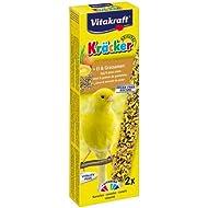 Vitakraft Kracker Canary Treat Sticks with Egg and Grass Seeds 2pk Case of 7