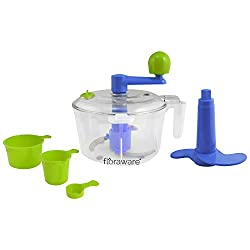 Floraware 5-Piece Atta/Dough Maker/Kneader with Cut & Chop Kitchen Set, Blue