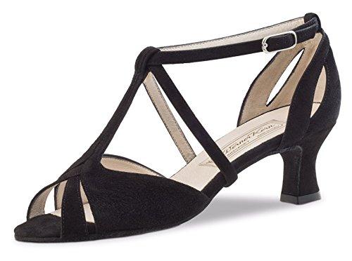Werner-Nucléaire Femme Chaussures de Danse Francis 5,5 Cuir noir