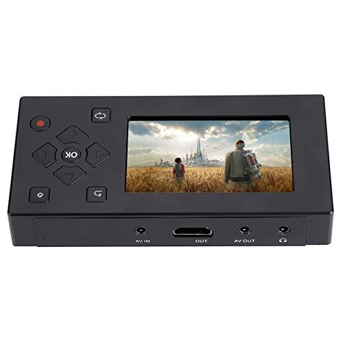 Tonysa 3 Pouces Ecran TFT AV Enregistreur, Convertisseur Audio/Vidéo, Capture Vidéo Box Haut-Parleur Intégré/Interface USB 2.0 Lecteur Cassettes/DVD/DVR/Consoles de Jeux, etc.