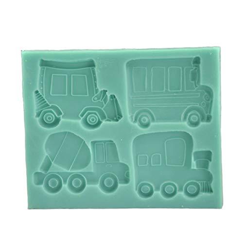 Auto Form Fondant kuchenform silikonform backen DIY dekoratives Werkzeug küche Kuchen backen - grün ()