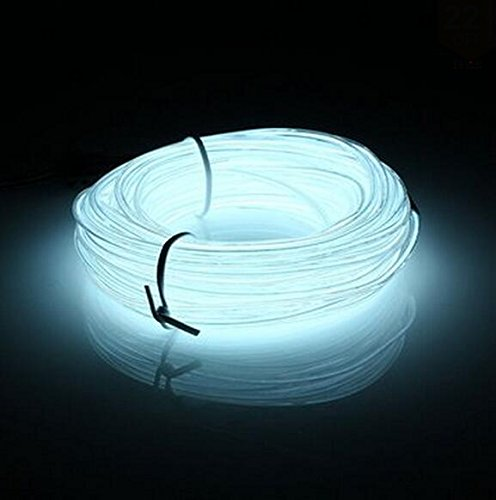 Lysignal Wasserdicht Flexibel 5M 15 FT Neon Beleuchtung Lichtschlauch Leuchtschnur EL Kabel Wire mit 3 Modis für Disco Party Kinder Halloween Kostüm Kleidung (Kinder Kostüme Diy)