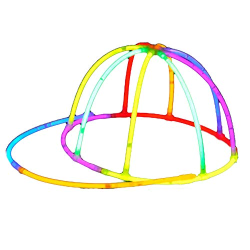 Isuper Kreative DIY Leuchtender Hut Knicklichter Kappe Baseball Cap Party Hut für Halloween Und Konzert