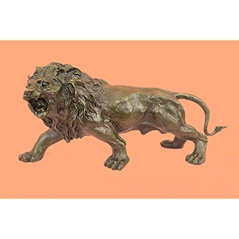 Escultura bronce estatua...Envío gratis...Barye moldeada caliente africano de la fauna del león del art déco(YRD-569-EU)Estatuas estatuilla estatuillas desnuda Oficina y Decoración del hogar Coleccion