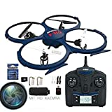 RC Quadrocopter, Drohne UDI U818A-HD Upgrade- 2.4G 4CH RC Drohne mit 2MP 720P HD Kamera Headless Return Home inkl.4G SD Card + 2 AKKUS
