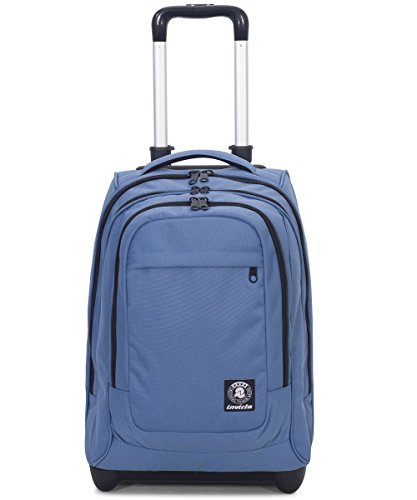 Trolley invicta - extra - bump - blu - 45 lt spallacci a scomparsa! uso zaino scuola e viaggio