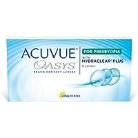 Acuvue Oasys Lentes de contacto multifocales quincenales, R 8.4, D 14.3, 3 dioptría, adición media - 6 lentillas
