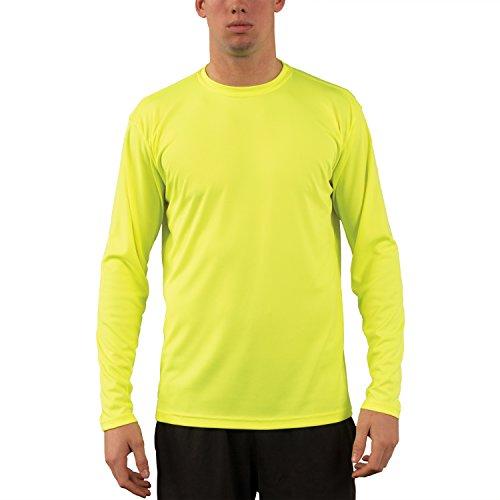 Vapor Apparel Männer Upf 50+ Langarm Uv (Sonne) Schutz Leistung T-Shirt M Safety Gelb (Feuchtigkeitsregulierung Antimikrobielle)