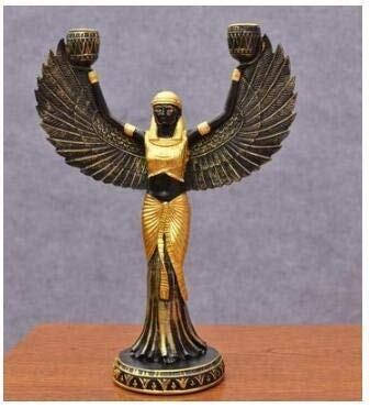 Kostüm Ägypten Des Alten - Fine-X Handmalerei Goldene Harz Isis Figur Alten Ägypten Göttin Modell Klassische Dekoration Harz Figuren Handwerk Weinregal Statue (Color : B)