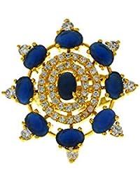 Anuradha Art Blue Colour Stylish Wonderful Designer Finger Ring For Women/Girls