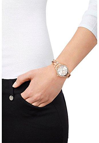 CHRIST times Damen-Armbanduhr Analog Quarz One Size, silberfarben, rosé -