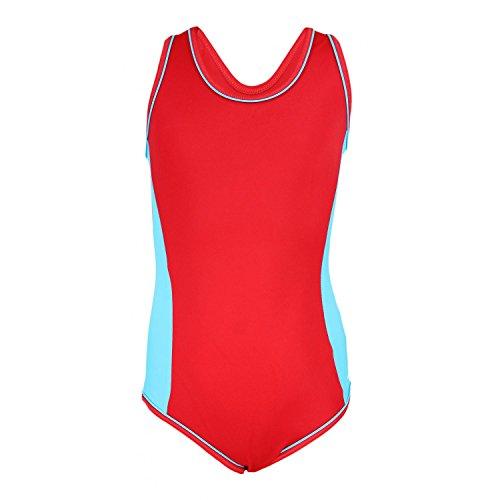 Aquarti Mädchen Badeanzug Racerback Kinder Schwimmanzug , Farbe: -