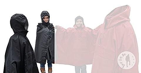 Bike Outdoor Child Scout Cycling Raincoat Cape Poncho Coat Rainproof Waterproof