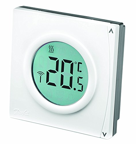 Danfoss 087N7849 Thermostat d'ambiance digital non programmable RET2000B, Blanc