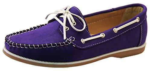 Shoreside Damen Bootsschuhe Violett