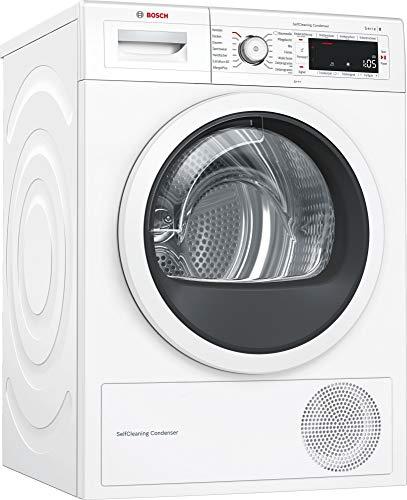 Bosch WTWH7540 Serie 8 Wärmepumpentrockner / A+++ / 176 kWh/Jahr / 8 kg / weiß / Edelstahltrommel / selbstreinigender Kondensator / Home Connect