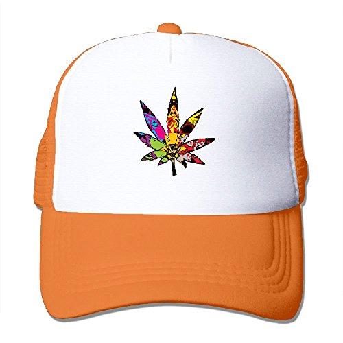 ncnhdnh Trippy Multi Pot Weed Leaves Mesh Trucker Caps/Hats Adjustable for Unisex Black - Flagge Pot Leaf