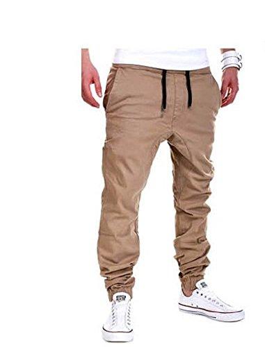 WTUS Herren Hosen - Cargo Jogging Pants,Cargohose eng für Jungen schwarz Jungen Jogginghose Cargo