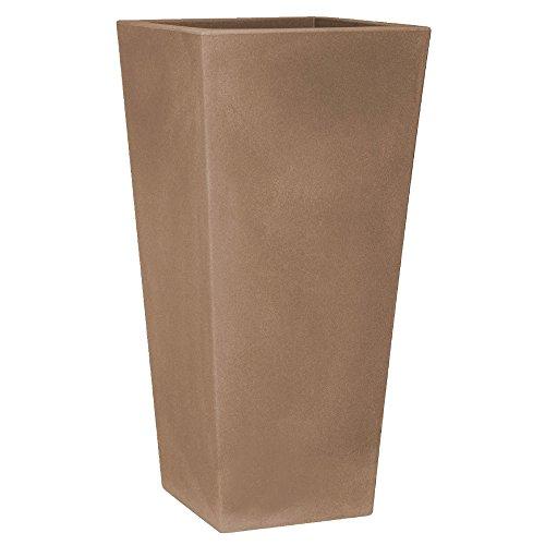 hydroflora 63002500 vaso a colonna Nicoli Eros 30 x 30 x 60 cm, colore avana opaco