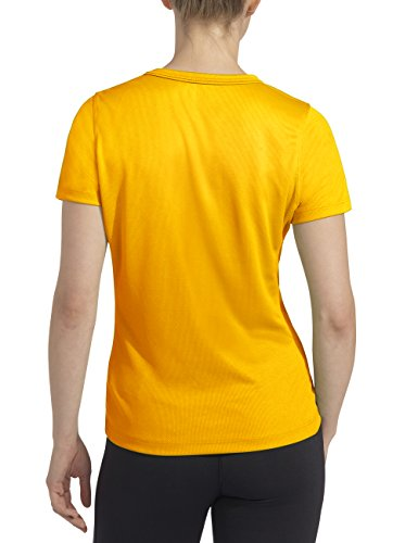 Rono Minimesh T-shirt pour femme Jaune (500) - Jaune safran (500)