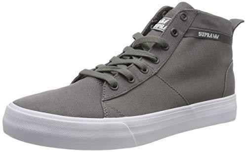 Supra Stacks Mid, Zapatillas de Skateboard Unisex Adulto, Gris Grey-White-M 3, 39 EU