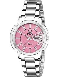 Fogg Quartz Movement Pink Dial Women's Watch - 4054-PK