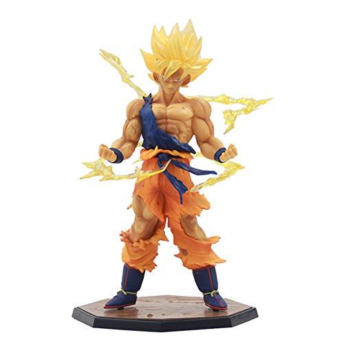 Qdegui Action Figuren PVC Dragonball Z Son Goku Mit Basis, Figur Actionfigur Sammelfigur für Kinder Jugendliche und Fans 17 cm (Z-party Ball Dragon Dekorationen)