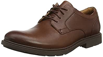 Clarks  Buckland Walk, Derbies à lacets hommes - Marron - Braun (Chestnut Leather), 44 EU
