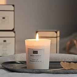 Bougie parfumée naturelle, cadeau d'arôme, cire de soja fabriquée à la main dans un bocal en verre 12 heures, bougie de voyage bonheur, idéal pour la méditation, le soulagement du stress et l'humeur.