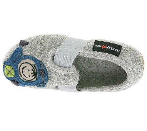 Haflinger Everest Kosmo, Chaussons bas garçon gris (steingraumeliert)