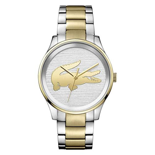 Lacoste Women's Victoria Two Tone Steel Bracelet Quartz Analog Watch 2001034