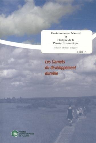 Environnement naturel et histoire de la pensée économique par Joaquin Morales Belpaire