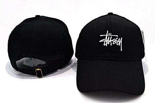 Cappello Stussy regolabile Hip Hop Sport Fans Hyst Unisex eresen cappellino da Baseball (Nero)