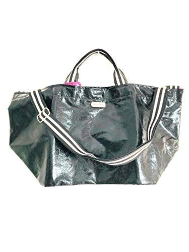 brasi&brasi Shopper Half&Stripe Glitter Zip Schwarz NEU!!NEU!!NEU!!