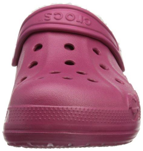 Crocs Baya Lined Kids, Sabots mixte enfant Rouge (Pomegranate/Oatmeal)