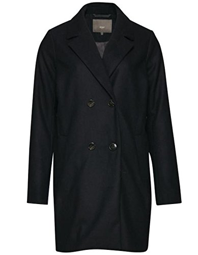 Wool coat double breasted by Ichi (M - Black) (Blazer Double-breasted)