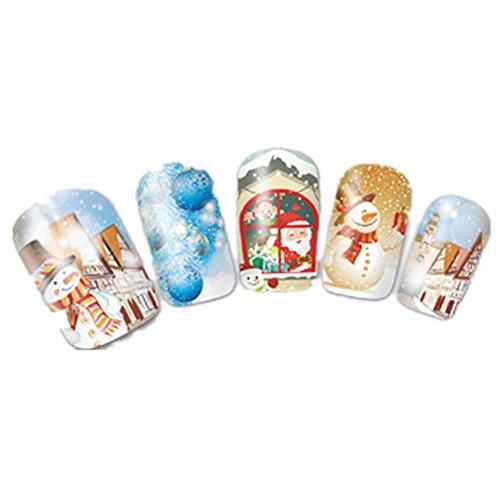 Xshuai Neue stilvolle Kunst-Abziehbilder Nagel-Verpackungs-Aufkleber Klebstoff Polnische Folien Dekor-Schnee Weihnachtsmann - Neue Halloween-nagel-kunst