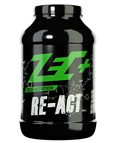 #ZEC+ Re-Act Shake | All-in-one Post Workout Formel mit essentiellen Aminosäuren | Creatin-AKG | Glutamin-AKG | Ergogenics | Vitaminen und Mineralien | Geschmack MANGO 1800g#