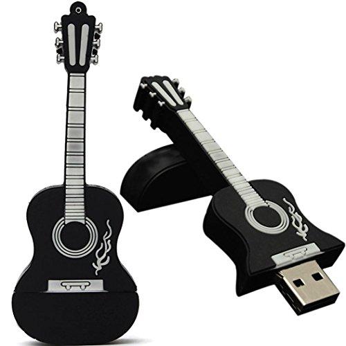 Oyedens 16GB De La Nota Musical De Sílice Usb 2.0 Memoria Flash De Almacenamiento Del Palillo Agradable Materia Pulgar Del Disco De U Negro (Negro)
