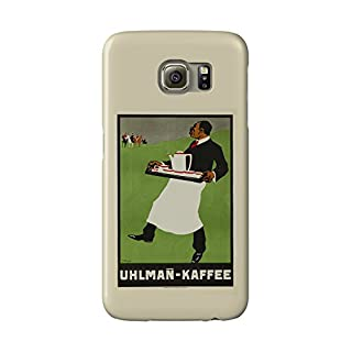 Uhlman - Kaffee Vintage Poster (artist: Waidenschlager) c. 1905 (Galaxy S6 Cell Phone Case, Slim Barely There)