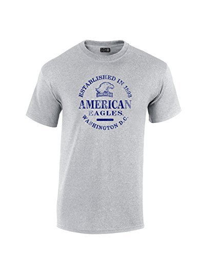 SDI NCAA American University Eagles T-Shirt, kurzärmelig, 100% vorgeschrumpft, Sportgrau, 3XL