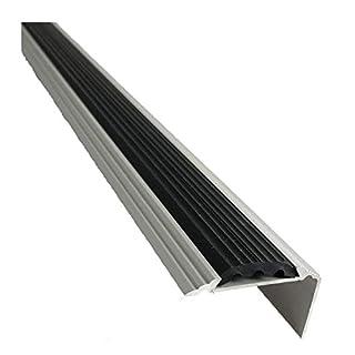 Aluminium Stair Nosing Edge Trim Step Nose Edging Titanium Silver Gold 1.2M TMW Profiles (Silver)