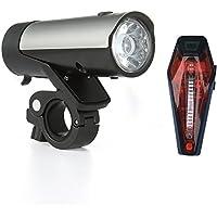 Luci Bici LED, Set Luci da Bicicletta Potenti con Certificazione K Ricaricabili via USB Qualitàl Premium con Batterie Samsung li-ion by Kingsway Infinity la Preferite di Professionisti, Pendolari & MTB per una Guida Più Sicura