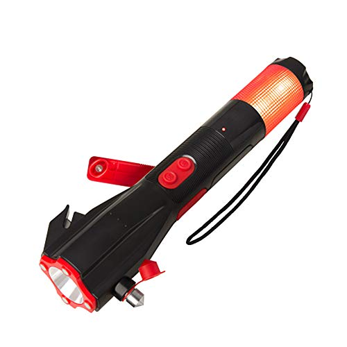 Sicherheit-brenner (WPFC Shake Hand Brenner Multi-Funktion Automobil Sicherheit Hammer, Taschenlampe Feuer Flucht Hammer Auto Sicherheitsmaterialien)