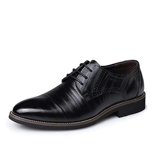 XIGUAFR Homme Chaussure en Cuir d'affaire Commercial Habillé Souple a Lacet Basse Soulier Chaussure de Travail de Ville au Loisir Plate Résistant à l'usure