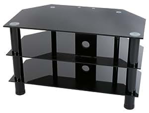 levv fernsehtisch aus glas f r plasma und lcd fernseher k che haushalt. Black Bedroom Furniture Sets. Home Design Ideas