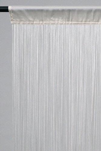 Tenda a fili, circa 140 x 250 cm (larghezza x altezza), colore: bianco