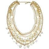 ZI LING SHOP- Fashion Elegante Europeo Y Americano Multi - Collar De Perlas Exagerado Long Femenino Suéter Cadena Accesorios Necklace